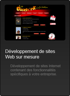 Sites Internet - Developpement Web Sur Mesure